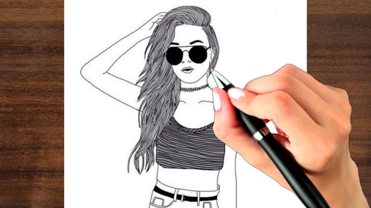 How To Draw A Girl With Glasses Step By Step Learn To Draw A Girl Face Drawing For Beginners Youtube