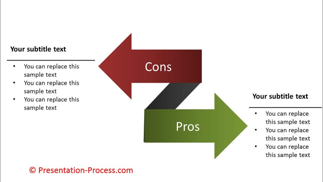 how to create pros and cons with arrows: powerpoint diagram series, Powerpoint templates