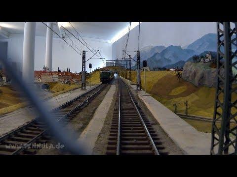 Führerstandsmitfahrt auf der Modellbahn Spur 0 Anlage im Eisenbahn und Verkehrsmuseum Dresden