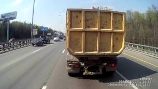 SHOCKING Volvo XC70 accident on highway in RUSSIA! аварии