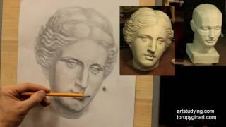 Афродита (6). Обучение рисунку. Портрет. 45 серия