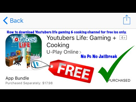 How to download Youtubers life gaming and cooking channel for free (ios only) No PC No Jailbreak!