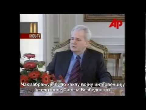 Председник Слободан Милошевић о САД-НАТО агресији на СРЈ, 1999.