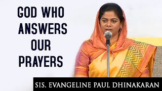 The God Who Answers Our Prayers (English - Hindi) | Sis. Evangeline Paul Dhinakaran