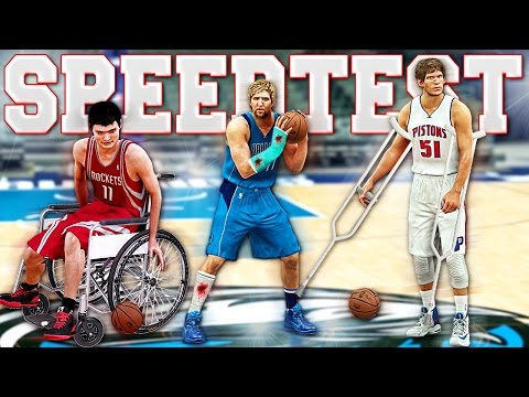 Who Is The SLOWEST Player In NBA 2K17? - OFFICIAL NBA 2K SPEED TEST! (With Ball/All Players)