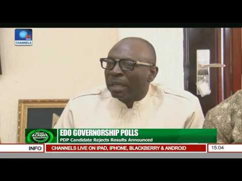 News Across Nigeria: PDP Candidate Rejects Edo Governorship Results Announced