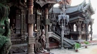 Храм Истины в Паттайе. The Sanctuary of Truth(Невероятное сооружение из тикового дерева в Паттайе. Здесь снимался эпизод фильма