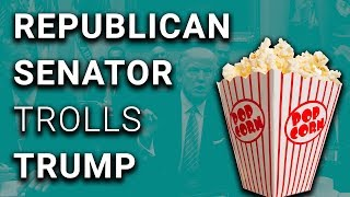 2017-10-25-22-00.Trump-Meeting-Trolled-by-Popcorn-Russian-Flags