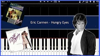 Hungry Eyes - Eric Carmen (Synthesia) [Tutorial] [Instrumental Video] [Download]