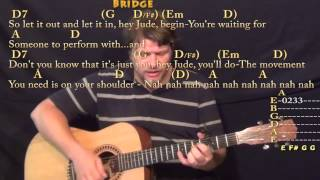 Hey Jude (The Beatles) Strum Guitar Cover Lesson with Chords / Lyrics