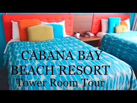 Cabana Bay Beach Resort Tower Room Tour   Mr Myrtle Travel Vlog   Universal Studios