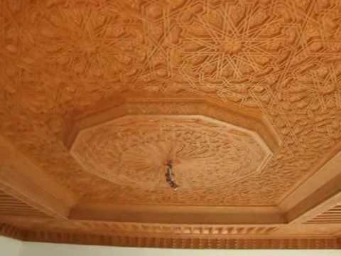 plafond en bois sculpt youtube. Black Bedroom Furniture Sets. Home Design Ideas