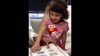 Aliyah getting 3 year old doctor checkup