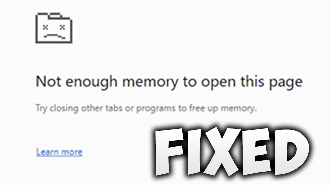 How To Fix Not Enough Memory to Open This Page Chrome Error (Easy Solution)