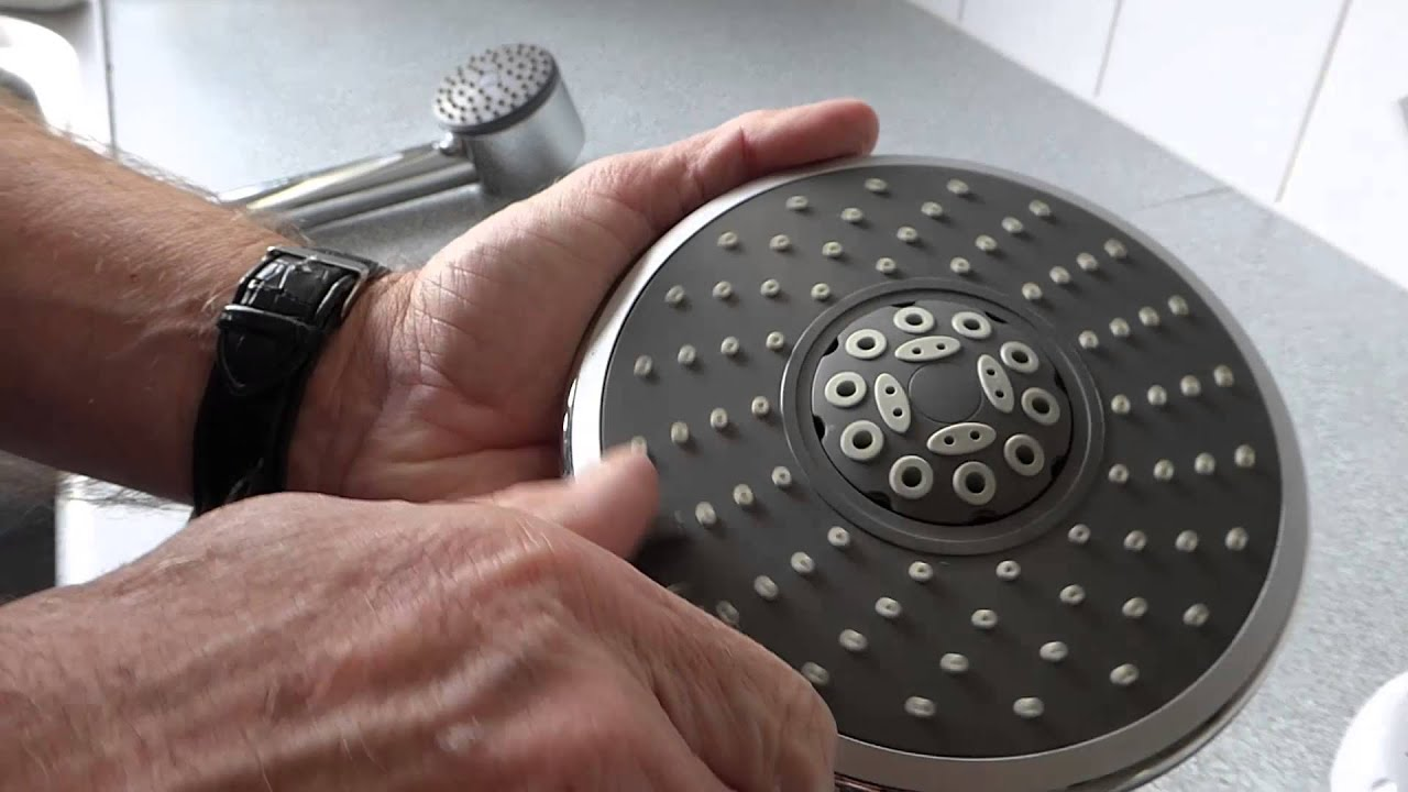cleaning rain shower head.  How to clean a shower head and get better YouTube
