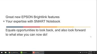 SMART Notebook on an EPSON Projector - YouTube