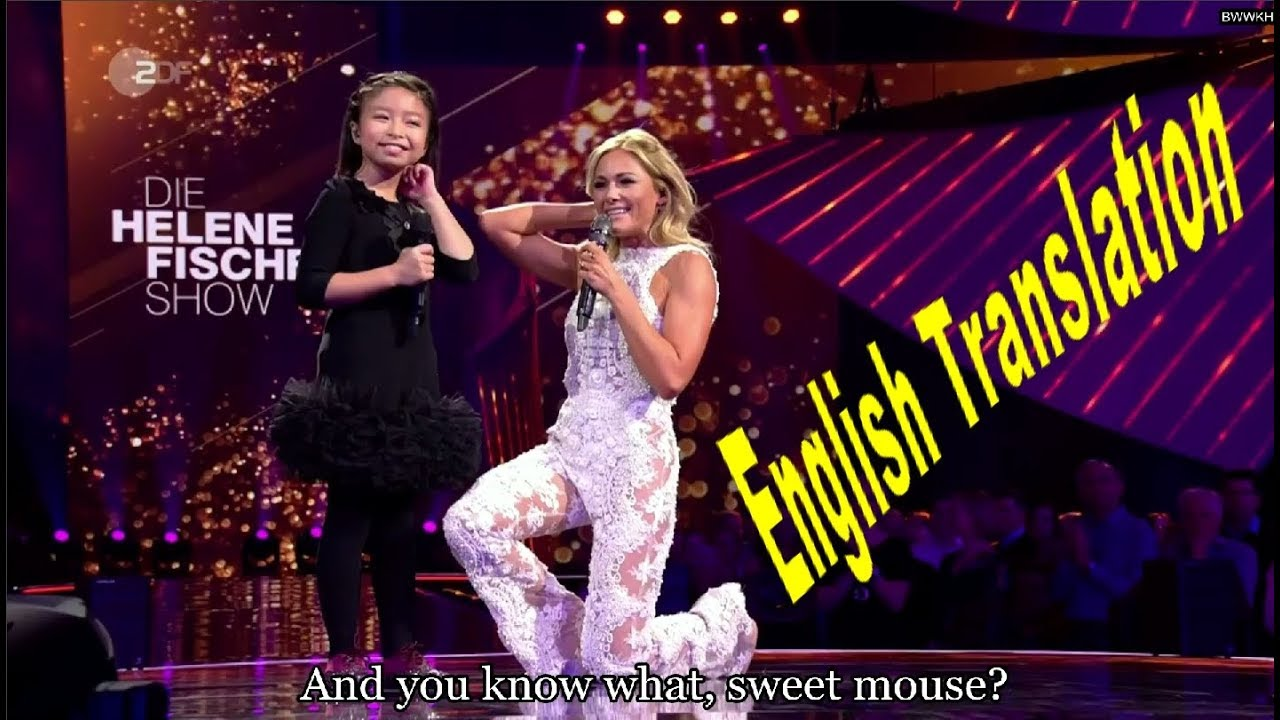 Celine Tam Helene Fischer 17 You Raise Me Up Interview With English Subtitles Youtube