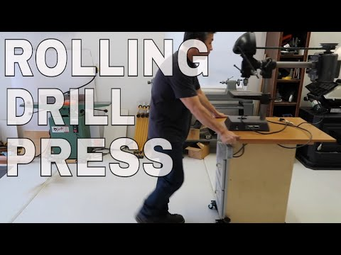 Rolling Drill Press Stand