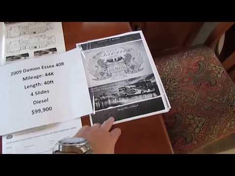 SOLD 2009 Damon Essence 40B Class A Diesel, 4 Slides, NADA Base $143K, 41K Miles, Warranty, $99,900