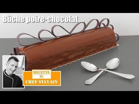 bûche-poire-chocolat---bûche-de-noël-par-chef-sylvain