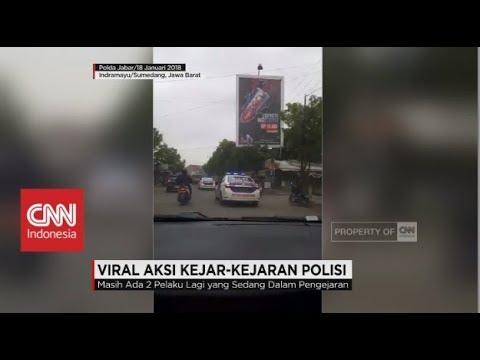 Viral Aksi Kejar-kejaran Polisi dengan Pencuri