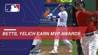 Betts, Yelich take home the AL and NL MVP Awards