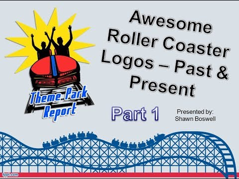 Theme Park Report - Awesome Roller Coaster Logo Designs Part One