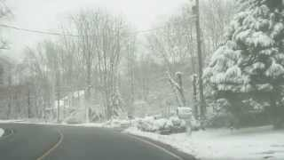 Royalty Free Stock Footage - Winter Suburban Road - Stafford - Va