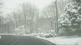 Royalty Free Stock Footage - Winter Suburban Road - Stafford - Va