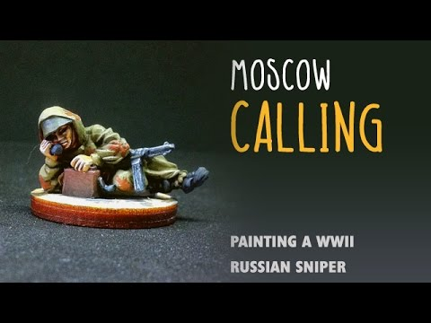 Moscow calling: Painting a WWII Russian sniper