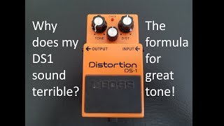 Boss DS1 distortion pedal settings