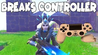 Raging Scammer Breaks His Controller Over Guns! (Scammer Gets Scammed) Fortnite Save The World