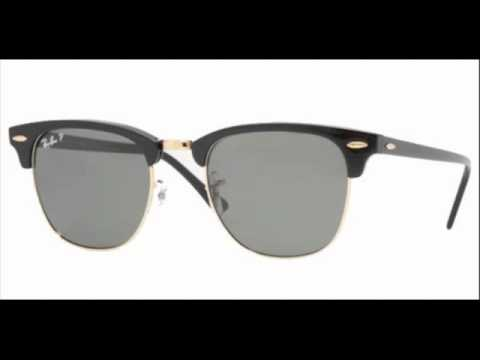 e9f2bf4e9b Ray Ban Clubmaster Black Polarized RB 3016 901 58 Sunglasses - YouTube