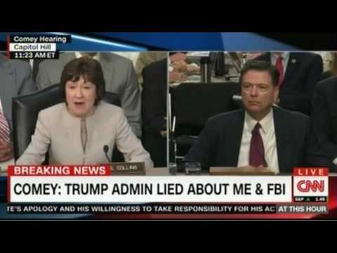 Fmr FBI Comey Testimony on Capitol Hill called the President and the White House team liars several