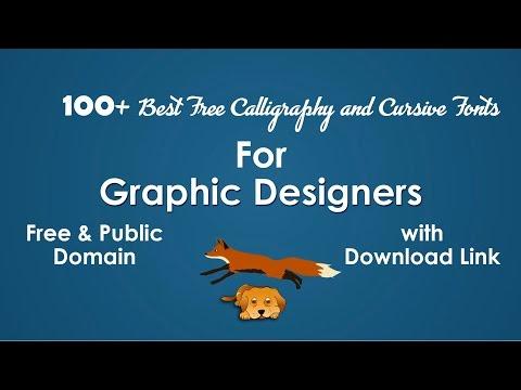 100 Best Calligraphy, Script, and Cursive Fonts List (Free & Public Domain) for Graphic Designers