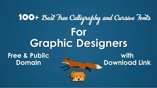 100 Best Calligraphy, Script, and Cursive Fonts List (Free & Public Domain) for Graphic Designers