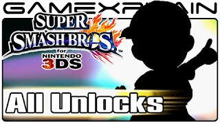 Super Smash Bros 3DS: Unlock All Secret Characters & Stages Guide