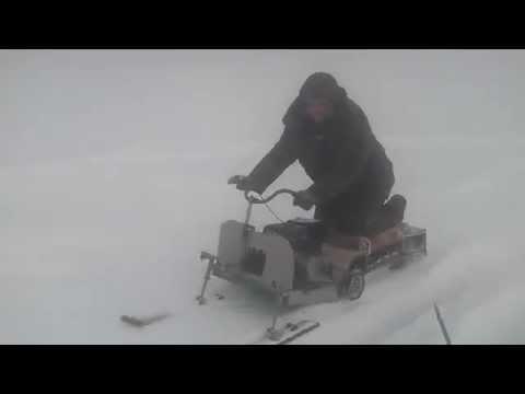 видео: Мини снегоход своими руками Первая поездка