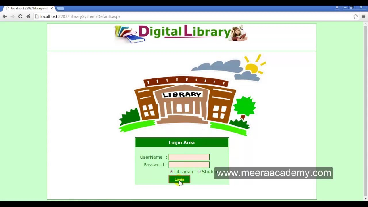 Library Management System Project In Asp Net Youtube