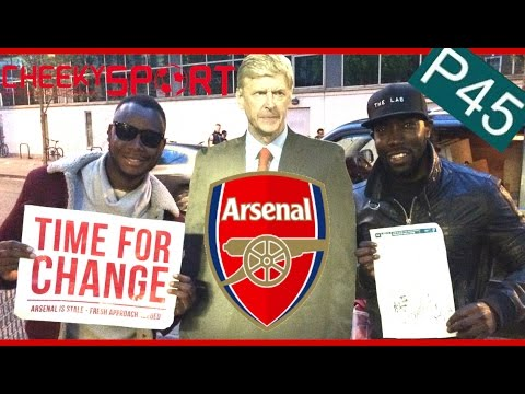 Arsenal players sign Arsene Wenger's P45 (End of Employment form)
