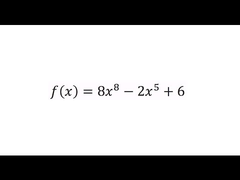 Find the derivative of f(x)=8x^8-2x^5+6 using the power rule.