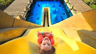 Amelia and Avelina water park fun and a crazy family adventure - Compilation Tuesday
