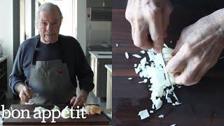 Jacques Pépin Dices an Onion | Bon Appétit