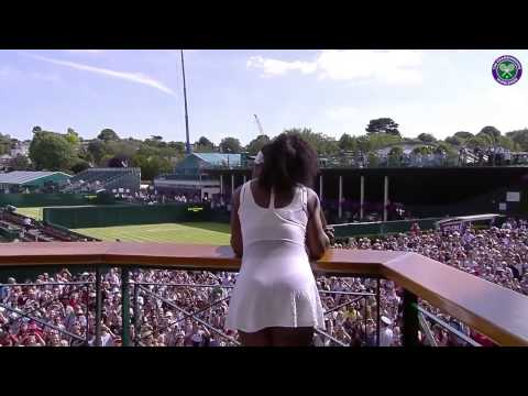 Champion Serena greets the fans