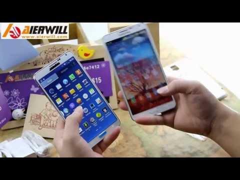 Samsung galaxy note 3 N9000 VS Best 1:1 copy note 3 n9000 quad core MTK6589T