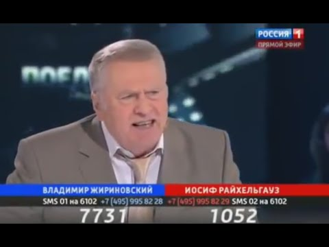 Russian politics. ''Duel'' talk show. Zhirinovsky vs Raihelgauz. ''Gorbachev'' (English subs)