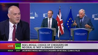 Theresa May says only alternative to Chequers is #NoDealBrexit