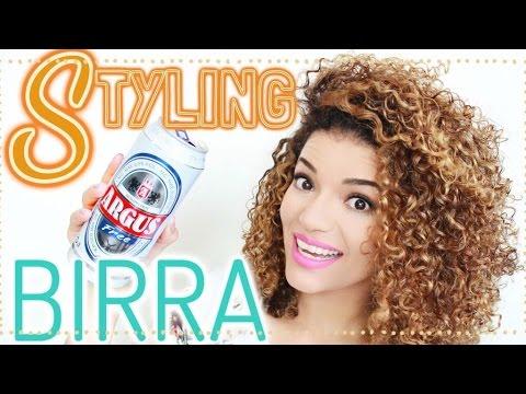 Styling capelli ricci birra