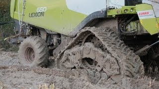 Extreme conditions Claas Lexion
