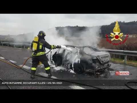 AUTO IN FIAMME, OCCUPANTI ILLESI  | 25/01/2021<br>...